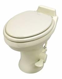 Dometic 320 Series Standard Height Toilet w/Hand Spray, Bone