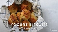 Yogurt Biscuits With Honey Butter