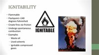 Ignitability, or Something Flammable
