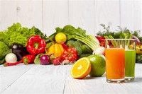 Fresh Fruits, Vegetables, and Juices