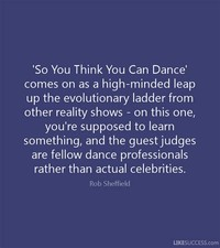 So You Think ​You Can Dance​