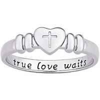 Sterling Silver True Love Waits Purity Ring