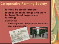 Cooperative Farming Societies: