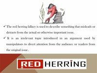 Red Herring (Ignoratio Elenchi)
