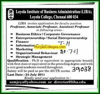 Loyola ​Institute of Business Administration​