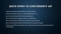 Concurrency API Improvements