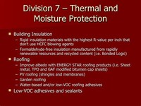 Division 7 — Thermal and Moisture Protection