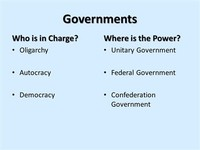 What is the Autocracy Government?