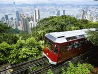 Tram up to The Peak