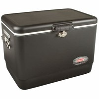 Coleman Steel Cooler — 85 Can Capacity