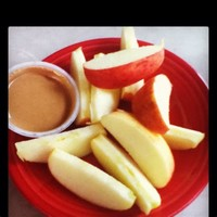 Apple Wedges and Peanut Butter