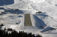 Courchevel International Airport in France