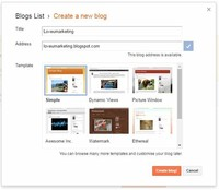 Click on Create New Blog