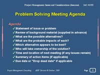 Problem Solving Meetings