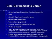 Government - to - Citizen (G2C)