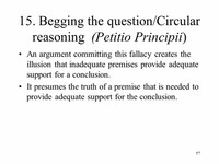 Circular Argument (Petitio Principii)