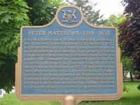 Historical Plaque - Peter Matthews c.1789-1838
