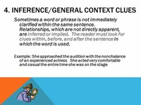 Inference/General Context Clues
