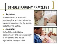 Single Parent Households
