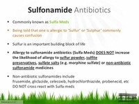 Antibiotics Containing Sulfonamides (Sulfa Drugs)