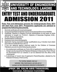 University of ​Engineering and Technology, Lahore​