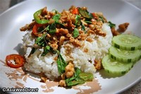 Pad Krapow Moo Saap (Fried Basil and Pork)