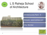 L. S. Raheja ​School of Architecture​