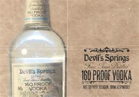 Devil Springs Vodka (80% Alcohol)
