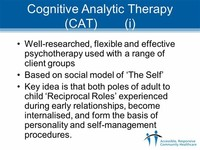 Cognitive Analytic Therapy (CAT)