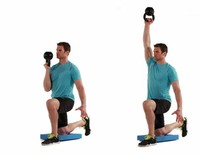 Half-Kneeling Single-Arm Bottom-Up Kettlebell Press