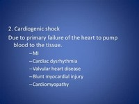 Cardiogenic Shock (due to Heart Problems)