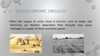 Socioeconomic Drought