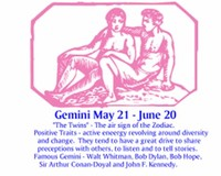 Gemini: June 21 – July 20