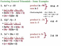Group #6: General Trinomials