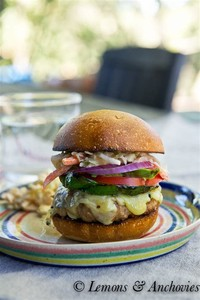 Chipotle Turkey Burgers With Southwestern Slaw