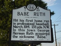 Babe Ruth Sign