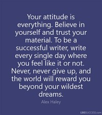 Believe in Yourself Attitude is Everything
