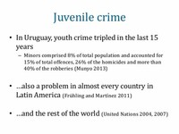 Crime, Criminal, Criminology and Juvenile Delinquency