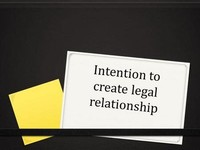 an Intention to Create a Legal Relationship
