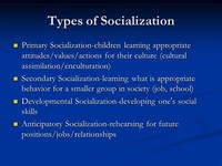 Developmental Socialization