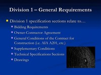 Division 1 — General Requirements