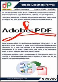 PDF – Portable Document Format