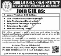 Ghulam Ishaq ​Khan Institute of Engineering Sciences and Technology​
