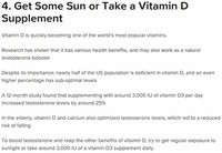 Get Some Sun or Take a Vitamin D Supplement