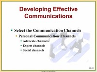 Select Effective Communication Channels