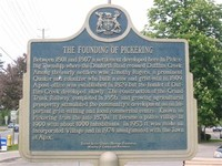 Historical Plaque - The Founding of Pickering