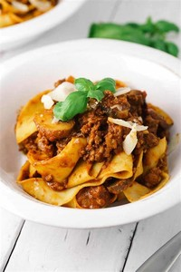 Beef Bolognese With Pappardelle Pasta