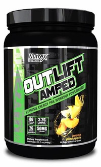 #3 Nutrex Outlift Amped – Large Citrulline Malate Dose pre Workout