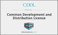 Common Development and Distribution License