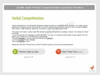 Verbal Comprehension Ability Tests